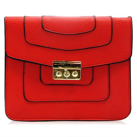 CLARINS 克蘭詩 2015 V型紅色金鍊包
