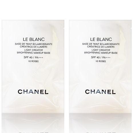 CHANEL 香奈兒 珍珠光感超淨白防護妝前乳SPF40/PA+++ #10玫瑰色 2.5ml x2入