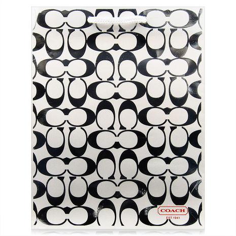 原廠專櫃紙袋 COACH (橫長19cm.直高24.5cm.邊寬11cm)