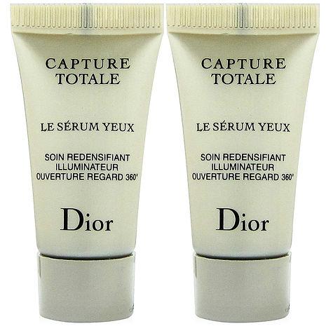 Dior迪奧 逆時完美再造亮眼精華5mlx2入+專櫃隨機化妝包