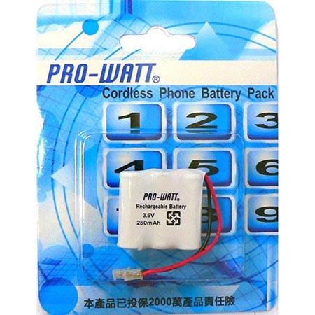 PRO-WATT P350萬用接頭 無線電話電池 3.6V 250mah