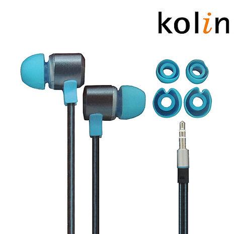 Kolin歌林 氣密式扁線耳機(顏色隨機)KER-SH12