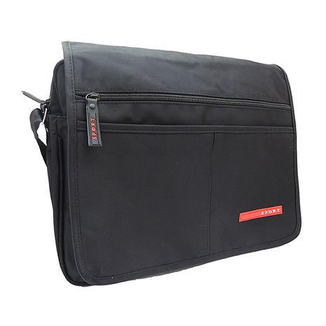 SPORT 黑色素面公事包斜背肩背兩用包 V-9812-服飾‧鞋包‧內著‧手錶-myfone購物