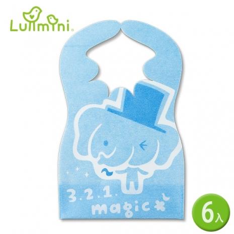 【Lullmini】Floret 嬰幼童拋棄型圍兜 (魔術象6入)