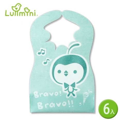 【Lullmini】Floret 嬰幼童拋棄型圍兜 (樂企鵝6入)