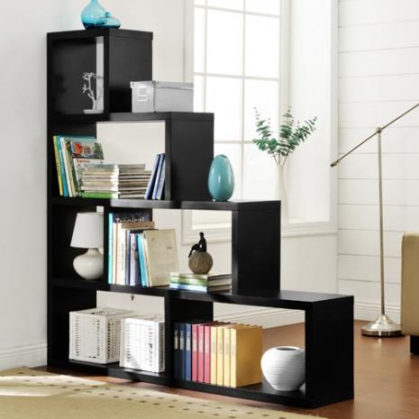 特賣↘【德萊妮】DIY L型多層展示櫃/書櫃/收納櫃/隔間櫃(黑色)