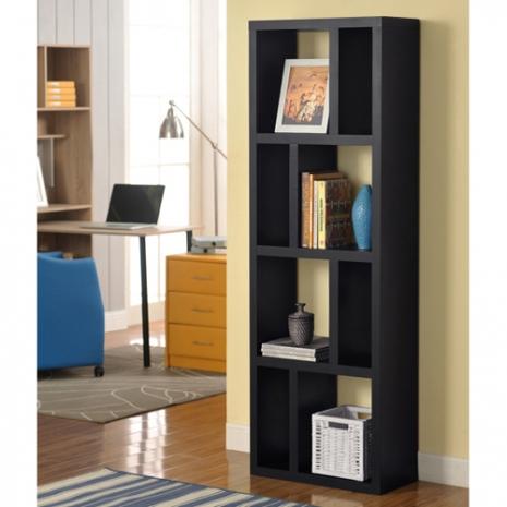 特賣↘【德萊妮】DIY高雅八格展示櫃/書櫃/收納櫃/隔間櫃(黑色)