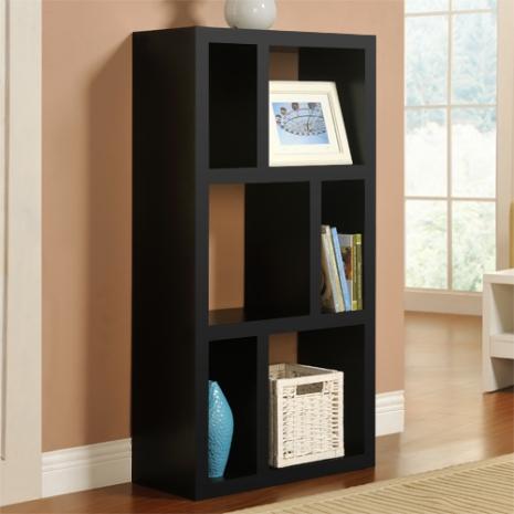 特賣↘【德萊妮】DIY時尚六格展示櫃/書櫃/收納櫃/隔間櫃(黑色)