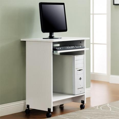 特賣↘【德萊妮】DIY輕巧附鍵盤架電腦桌/工作桌/書桌(白色)