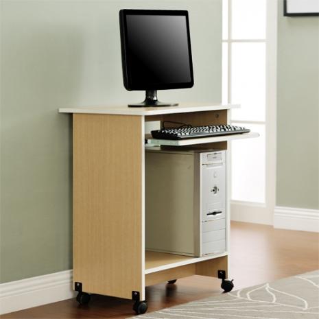 特賣↘【德萊妮】DIY輕巧附鍵盤架電腦桌/工作桌/書桌(白橡色)