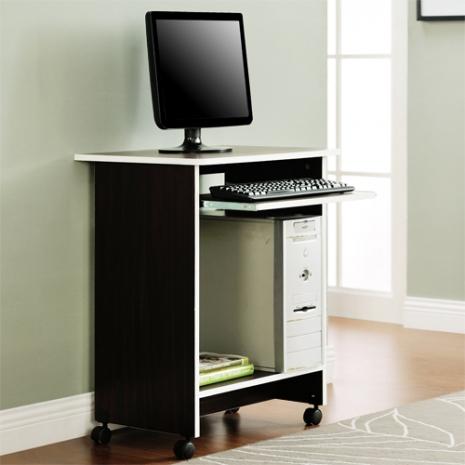 特賣↘【德萊妮】DIY輕巧附鍵盤架電腦桌/工作桌/書桌(胡桃色)