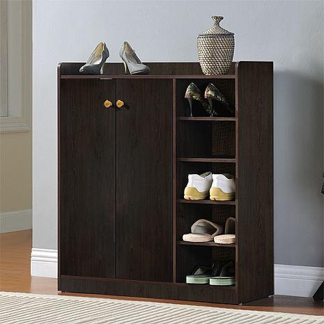 特賣↘【德萊妮】DIY單排空間雙門五層鞋櫃/鞋架(胡桃木)-居家日用.傢俱寢具-myfone購物