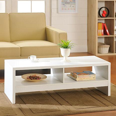 特賣↘【德萊妮】經典設計優雅大茶几桌/邊桌(白色)