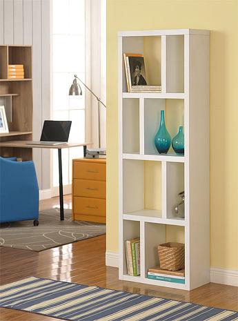 特賣↘【德萊妮】DIY高雅八格展示櫃/書櫃/收納櫃/隔間櫃(白色)
