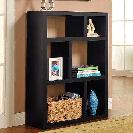 特賣↘【德萊妮】創意六格展示櫃/書櫃/收納櫃/隔間櫃(黑色)