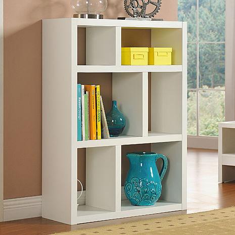 特賣↘【德萊妮】DIY創意六格展示櫃/書櫃/收納櫃/隔間櫃(白色)