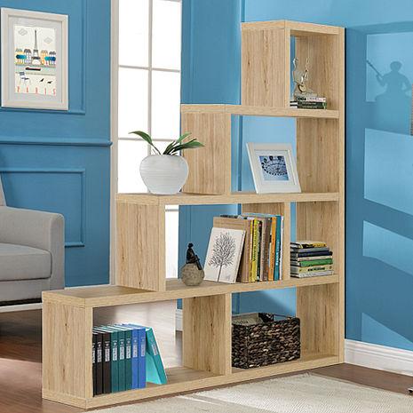 特賣↘【德萊妮】L型多層展示櫃/書櫃/收納櫃/隔間櫃(淺橡色)