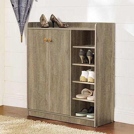 【德萊妮】DIY單排空間雙門五層鞋櫃/鞋架(深橡色)-居家日用.傢俱寢具-myfone購物