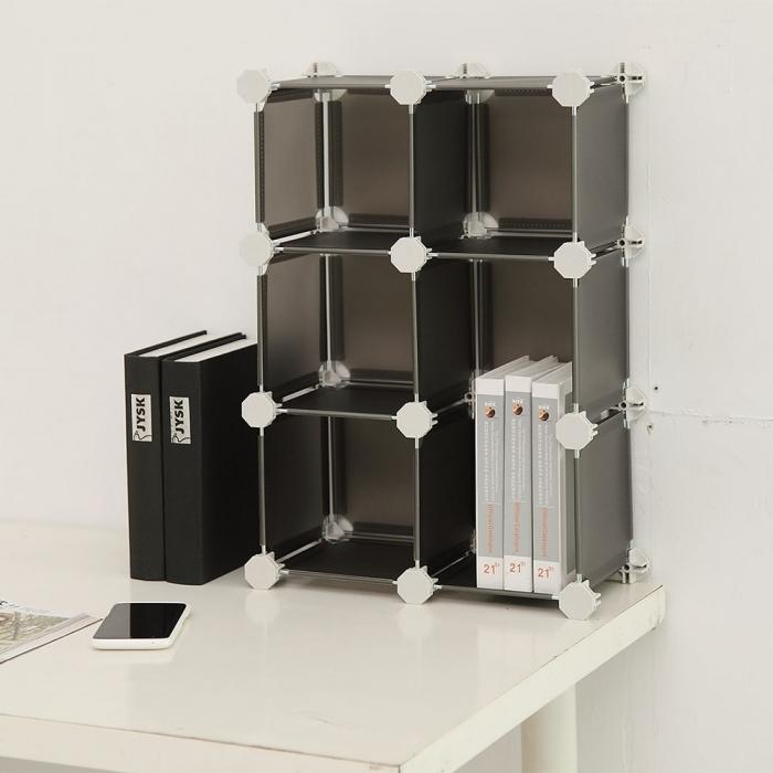 特價【ikloo】 迷你6格收納櫃-5.8吋百變收納櫃/組合櫃 清透白