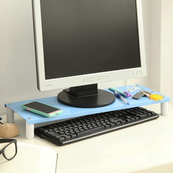 特價【ikloo】省空間桌上螢幕架/鍵盤架二入(四色可選)