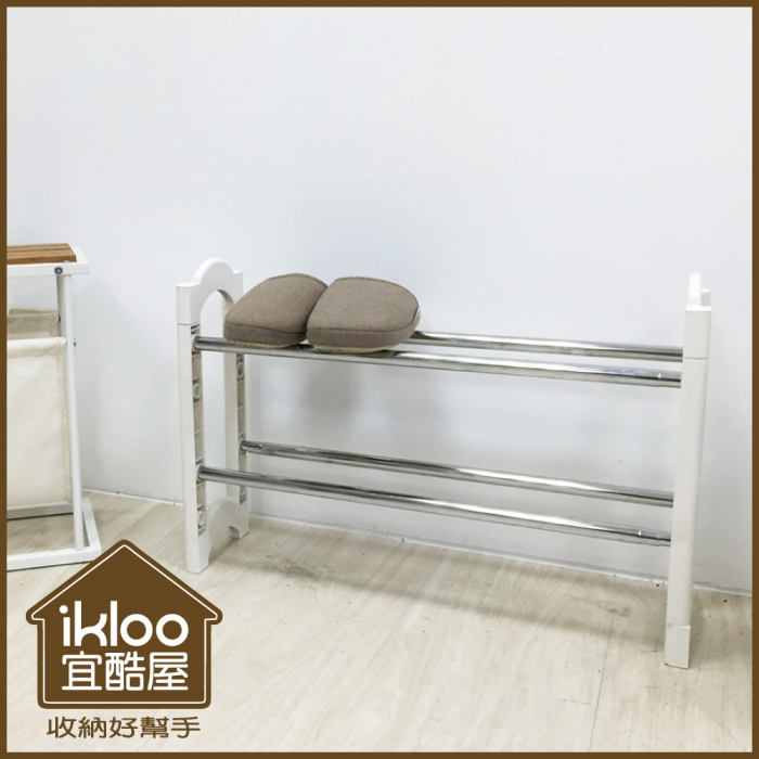 【ikloo】日系可疊伸縮鞋架