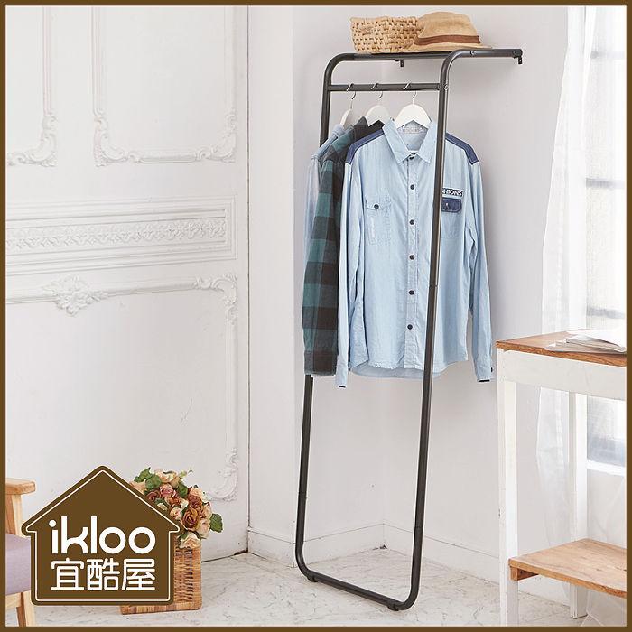 【ikloo】日系靠壁式層板掛衣架-特價