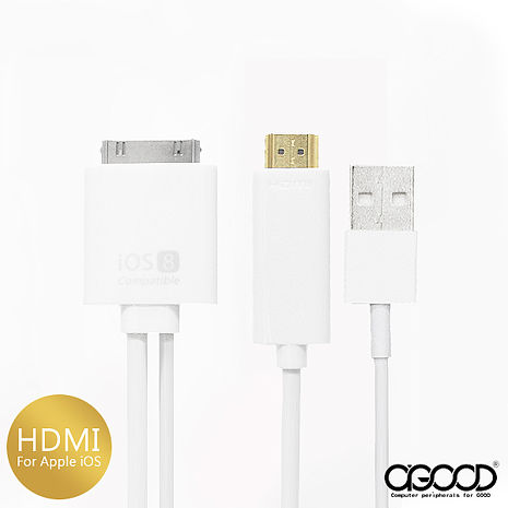 Apple iPad / iPhone轉HDMI Cable with USB-手機平板配件-myfone購物