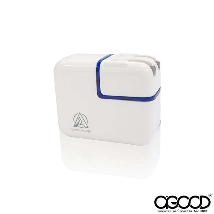 【A-GOOD】USB 2孔急速充電3.4A電源充電器(5V/3.4A)