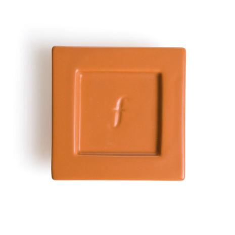 Tea Forte 2入陶瓷方型茶托 Tea Tray 磚紅 Ceramic Tray - Terra Cotta
