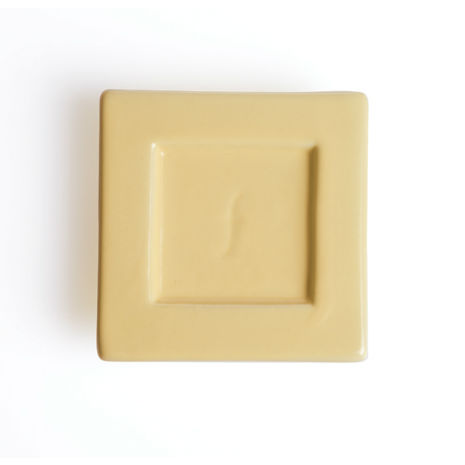 Tea Forte 2入陶瓷方型茶托 Tea Tray 奶油黃 Ceramic Tray - Butter Yellow