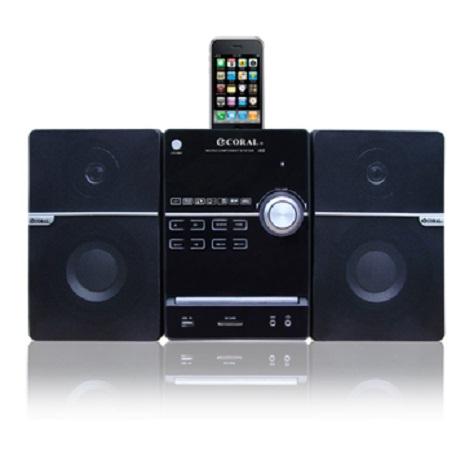 (CORAL) iPhone / iPod /RMVB DVD床頭音響組I68