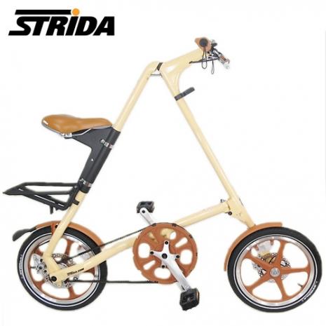 STRiDA 速立達 16吋LT碟剎折疊單車(三角形單車) -奶油色