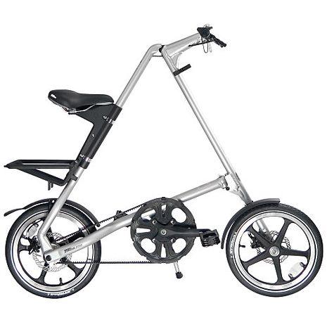 STRiDA 速立達 16吋LT碟剎折疊單車(三角形單車)- 噴砂銀