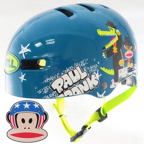 BELL 美國 Fraction BMX安全帽/童帽/成人 (Paul Frank大嘴猴) 51~56cm S 藍