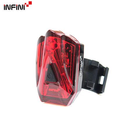 【INFINI】LAVA I-260R 3紅光LED警示高亮度4模式後燈/台灣製-黑色