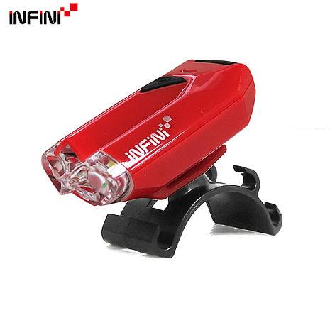 【INFINI】LAVA I-260W 2白光LED警示高亮度4模式前燈/台灣製-紅色