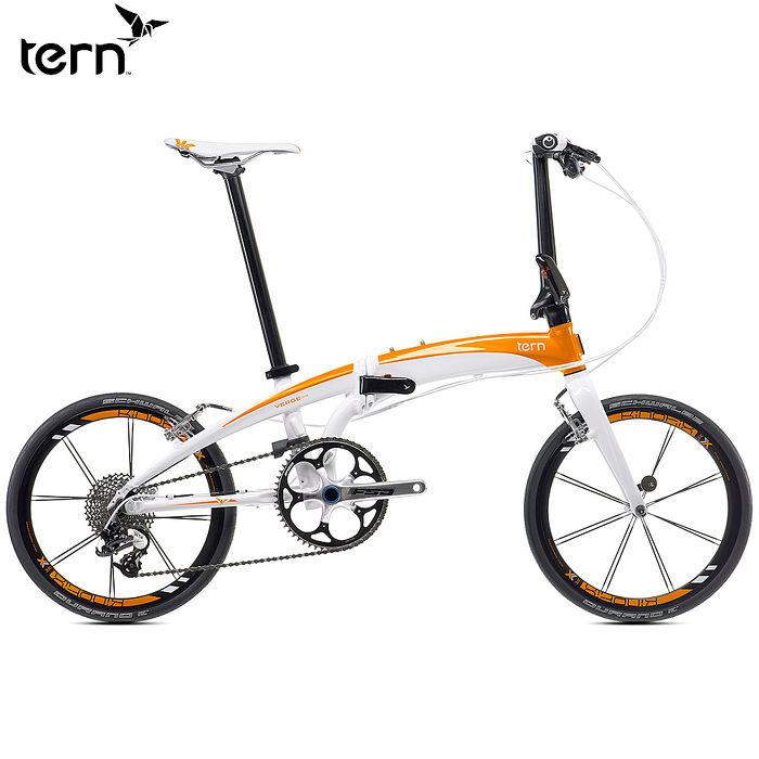 【Tern】 Verge X10 鋁合金折疊單車 20吋 10速 白底橘標