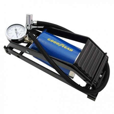 【Goodyear固特異】80mm大功率單管打氣筒 (汽車︱單車︱道路救援︱輪胎︱充氣)
