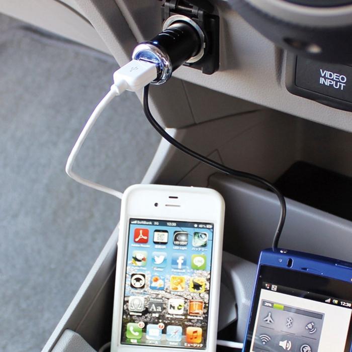 【YAC】USB+microUSB車用充電器 (TP-168/車充/充電/擴充/轉換器)