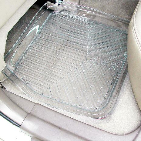 【亞克】3D凹型透明汽車踏墊-後座 (汽車︱車墊︱座墊)