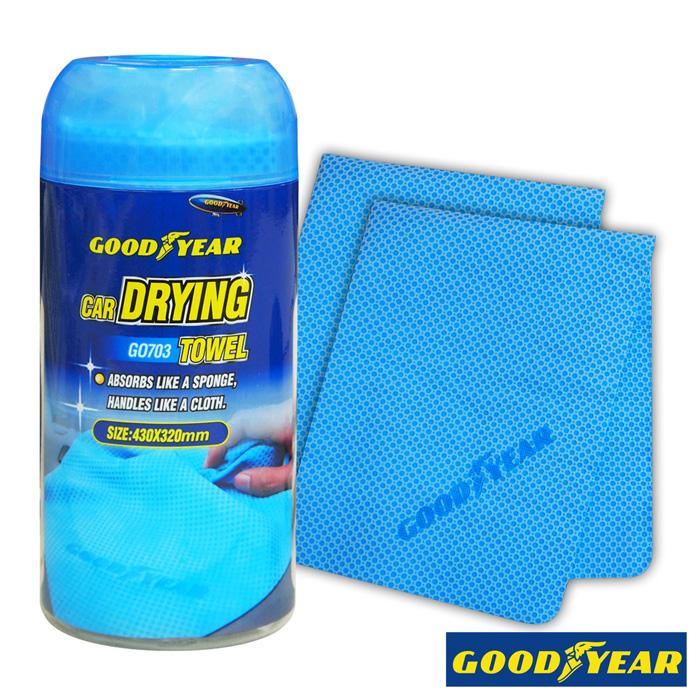 【APP限定】固特異萬用吸水巾2入-GO703 (汽車︱清潔︱打蠟︱洗車布︱海棉)