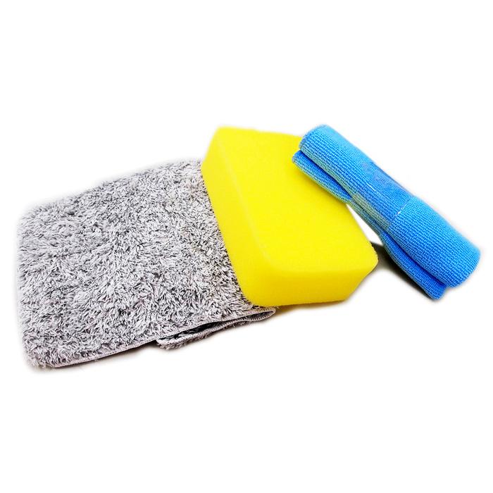 【亞克】超值洗車組(汽車|清潔|吸水巾|布|海棉)