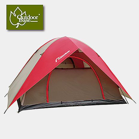 【Outdoorbase】蝶舞六人雙門透風帳篷 (露營 戶外 野餐 桌椅 板凳 睡袋 床墊)