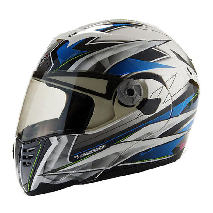 【GP-5】722風速全罩可掀式安全帽-藍銀L