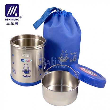 【三光牌】台灣製 溫心不銹鋼真空保溫飯盒/食物罐-0.7L(M-700B)粉色