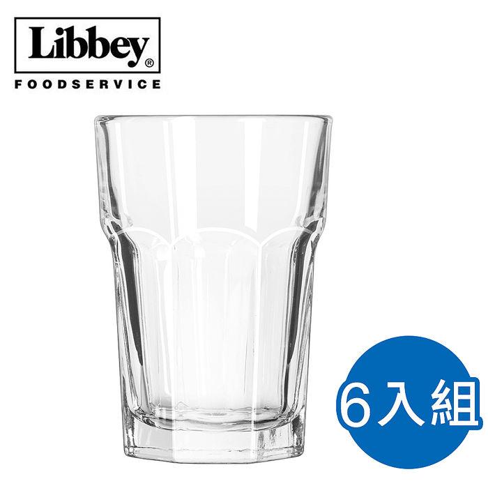 【美國 Libbey】杜瑞塔夫強化堅耐型 水杯 355ml*6入 (L-15238)