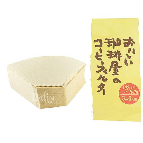 日本三洋 102 咖啡濾紙100入(無漂白)