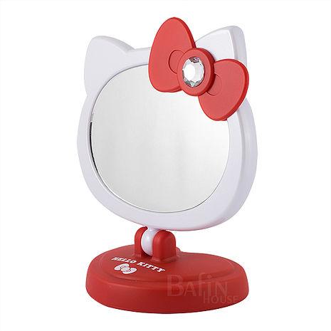 【Hello Kitty】可愛造型LED觸控桌鏡/化妝鏡 (2色任選)