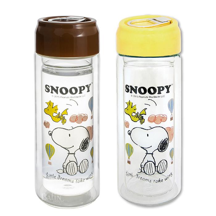 【SNOOPY】尚品雙層隔熱 耐熱玻璃杯 300ml*2入