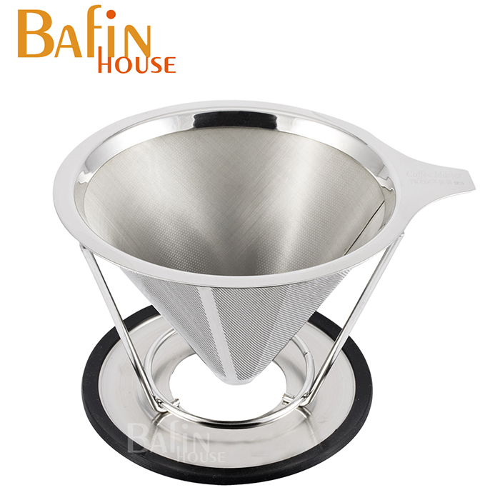 【Bafin House】雙層極細 304不鏽鋼咖啡濾網(1-2人份)